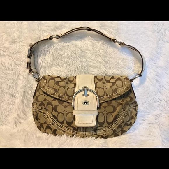 Coach Handbags - SOLD!! COACH Shoulder Bag w/Leather Strap & Buckle